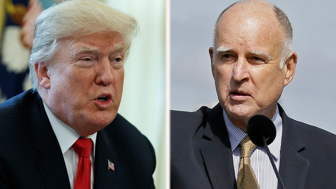 Trump rips California governor for pardoning ex-cons facing deportation-Vote Travis Allen-Vote DEM Out!!