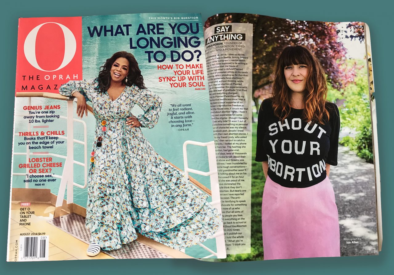 Oprah's Magazine Champions the 'Shout Your Abortion' Hashtag Movement