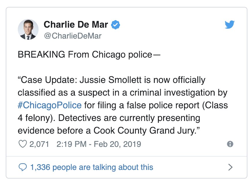 BREAKING: Jussie Smollett Charged With Disorderly Conduct