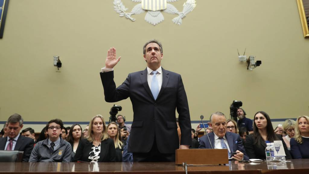 Cohen lobs bombs at Trump during fiery hearing, stops short of collusion claim as GOP bashes credibility