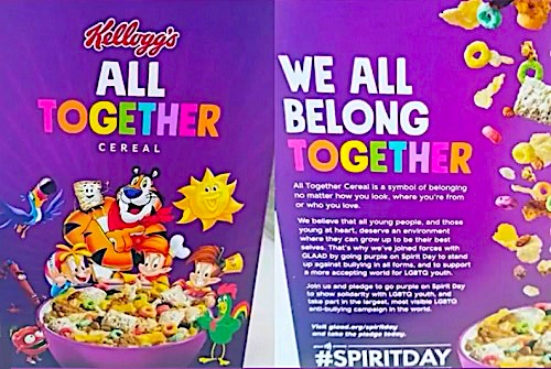 Kellogg's Launches New Breakfast Cereal To Promote Sodomy & Gender Confusion To Children | Christians for Truth