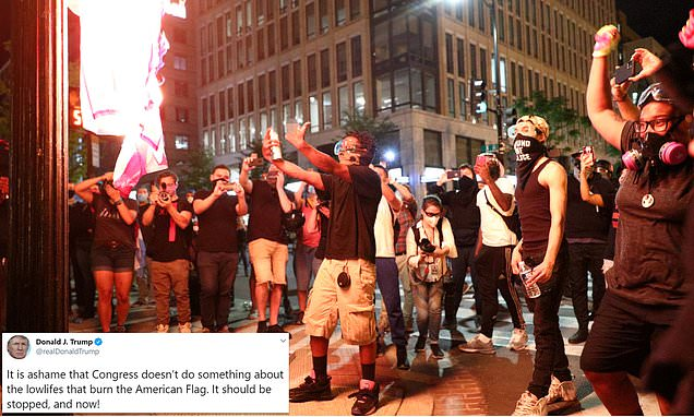 Protesters vow to tear down Abraham Lincoln's Emancipation memorial Thursday night.