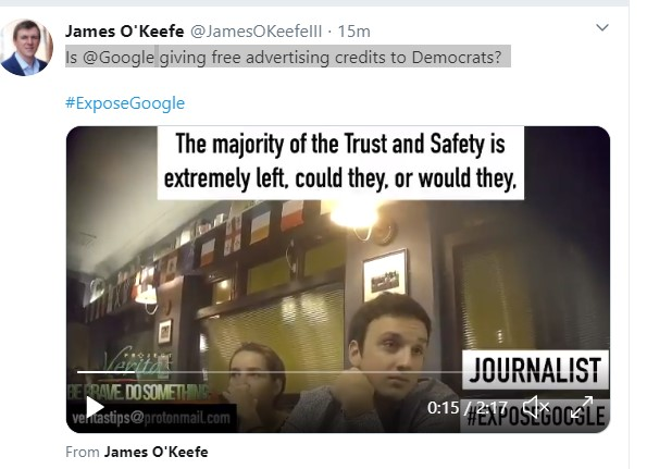 BUSTED: Project Veritas Video, Google Part 2,  Ad Salesman talks about Censorship that Matches Barr's Antitrust Comments