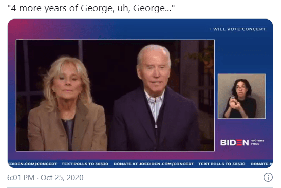 "Biden Appears to Have Called Trump ""George"" During Live Interview"