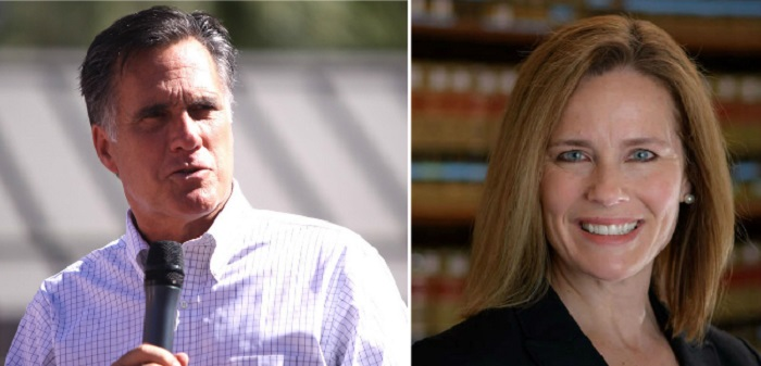 Mitt Romney Weighs in on How He Will Vote on Amy Coney Barrett's Confirmation