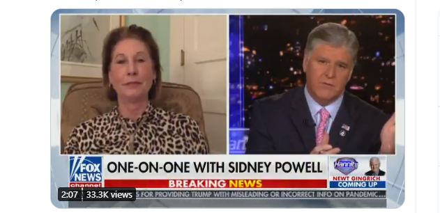 Shocking Update On Hannity! Sidney Powell: Witness in Hospital After Beating