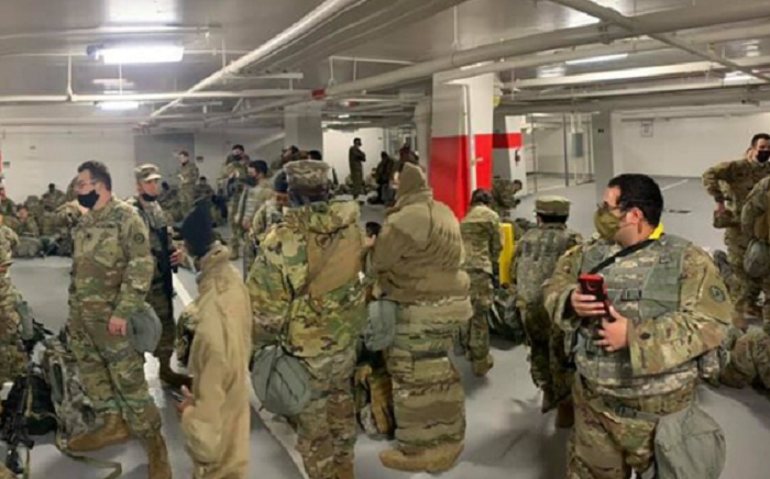 National Guard Troops Allowed Back into Capitol Aftger Being Pushed into Cold Parking Garage, the Optics Were Not Good For Democrats