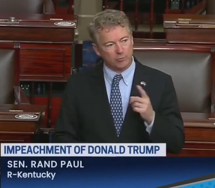 GOP Stands With Rand Paul, Vote Impeachment Trial Unconstitutional, Five Traitors Voted With Democrats [VIDEO]