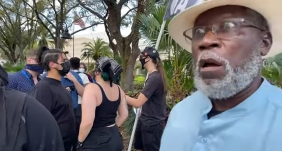White Members of BLM Fight With Black Trump Supporters AT CPAC