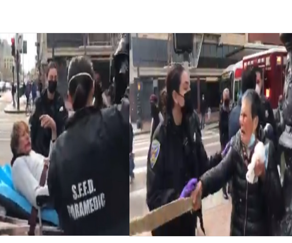 79-Year-Old Asian Woman Assaulted in San Francisco Fights Back Causing Her Attacker To Leave the Scene In a Stretcher [VIDEO]