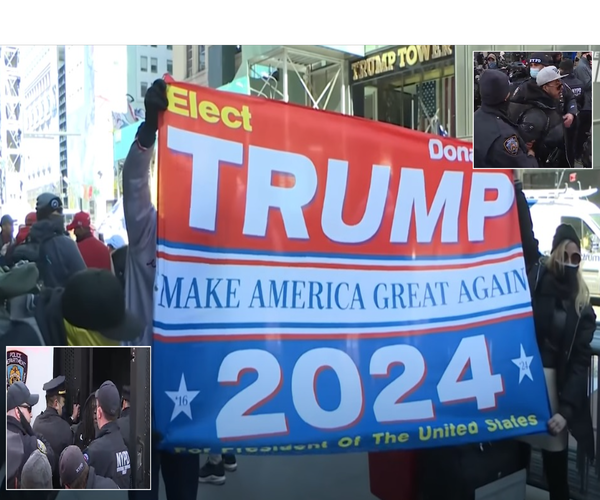 NYC 'Trump Save America Flag Unfurling' Parade Attacked By Counter Protesters