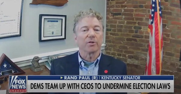 Rand Paul Rips Democrats for Pushing Racist Idea That Black People Are Too Stupid To Get Voter ID  [VIDEO]